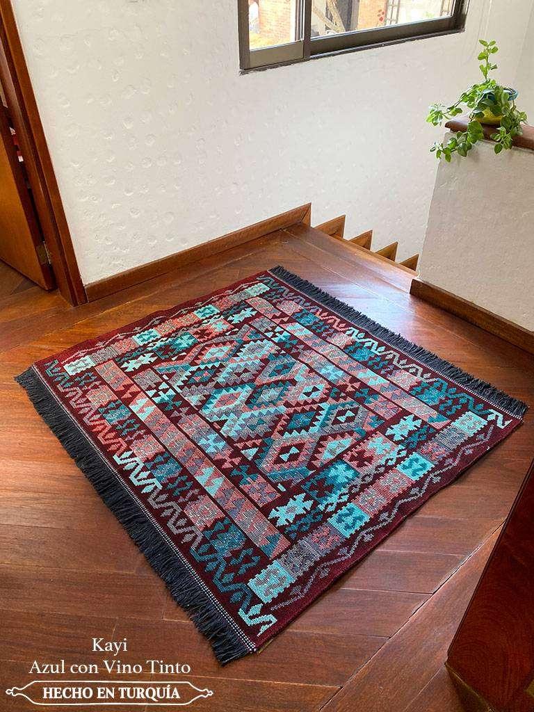 Tapete Kilim Diseño Kayi 120x100 cm