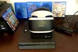 Se vende Ps4 Slim con casco VR de realidad virtual