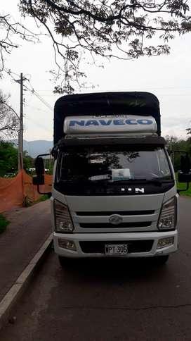 Camión Yuejin Único Dueño con Licencia para trabajar en Espacio Público Medellín