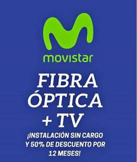 ALTA DE FIBRA OPTICA CON INSTALACION SIN CARGO