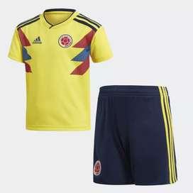 Mini Uniforme Selección Colombia adidas Local 2018