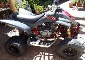Cuatriciclo Yamaha raptor 350 modelo 2008 con amortiguadores Ohlins