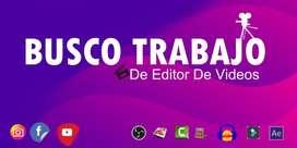 BUSCO TRABAJO De Editor De Videos