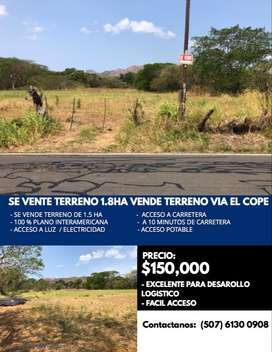 SE VENDE TERRENO COMERCIAL VIA EL COPE