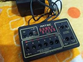 Fuente power supply para pedales de guitarra