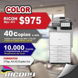 Copiadora Ricoh Mpc401 Con Garantia COLORES