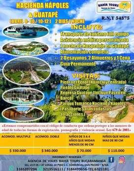 TOUR GUATAPE Y HACIENDA NAPOLES SEMANA SANTA
