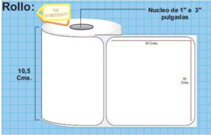 Etiqueta plastificada polipropileno para alimentos, ZEBRA,TSC, SAT