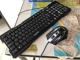 Teclado y mouse gamer, en excelentes condiciones funcionales.