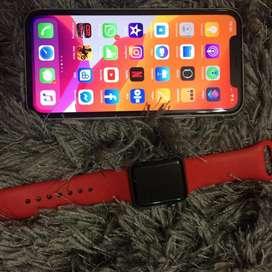 Iphone xr de 128 GB mas smarth what serie 3 de 38 milimetros