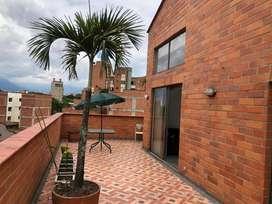 Excelente apartaestudio duplex tipo Loft amoblado con terraza