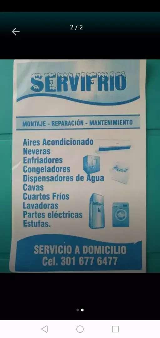Servicio tecnico a domicicilio de neveras lavadoras aires acondicionado estufa congeladora 0