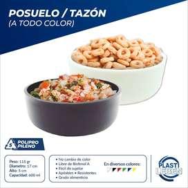 Tazon/posuelo Plástico Multiusos Elegante 5x17 Cm