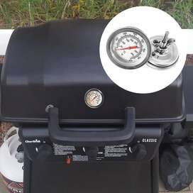 Termometro bbq 50-400 grados Celsius de acero inoxidable parrila ahumadora para barbacoa medidor de temperatura