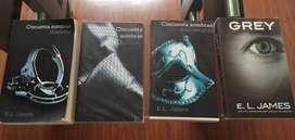 4 Libros Cincuenta Sombras Grey