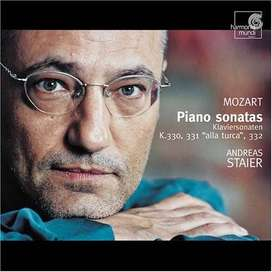 "CD- Wolfgang Amadeus Mozart: Piano Sonatas V 330, 331 ""alla turca"" & 332 - Andreas Staier."