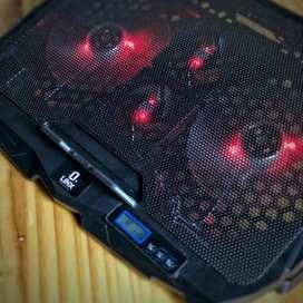 BASE REFRIGERANTE LINX BR777 DE 4 VENTILADORES SILENCIOSOS, ALIMENTACION USB