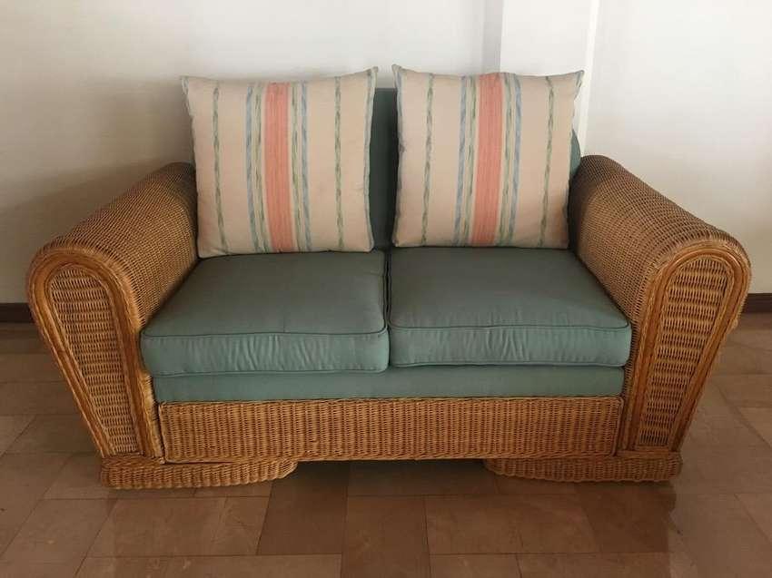 Sofa de Rattan, Americano 0
