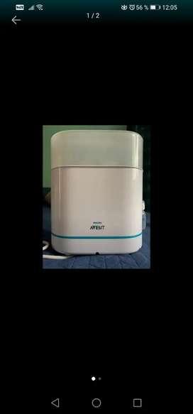 Esterilizador eléctrico de teteros Philips Avent a vapor 3 en 1 + 2 teteros Dr Brown