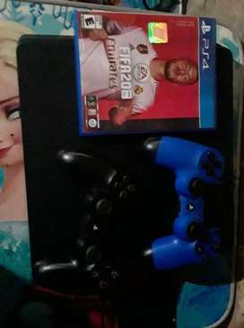 Playstation4 slim 1tb 2 controles 3 juegos fifa 20 fifa 19 call of duty ww solo fifa 20 va en juego fisico