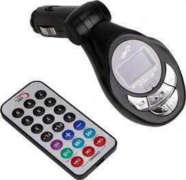 Transmisor FM inalámbrico para el carro con control remoto (negro)SD/MMC/USB/MP3