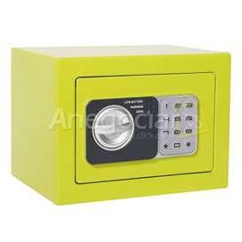 Caja fuerte de seguridad digital color verde entrega inmediata contraentrefa bogota