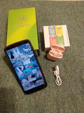 Motorola g6 plus con auriculares nuevos InPods 12 rosa