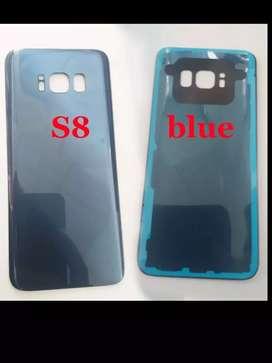 Tapa Trasera Batería Samsung Galaxy S8 + Vidrio Camara Pegante Anti agua
