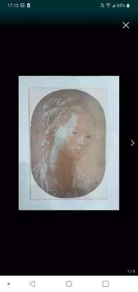 """Lámina """"Cara de Mujer"""" de Fra Filippo Lippi"""
