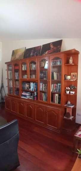 Gran Librero de caoba