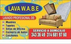 lavado profesional de muebles.