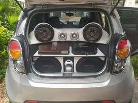 Excelente Equipo De Sonido, Planta Soundstream picasso P4.500, Amplificador Rockford T500-1  Y Cajon Bafles Pionner.