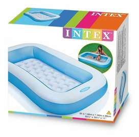 PISCINA RECTANGULAR INFLABLE INTEX 166 x 100 x 28 CMS