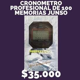 Cronometro profesional 100 memorias