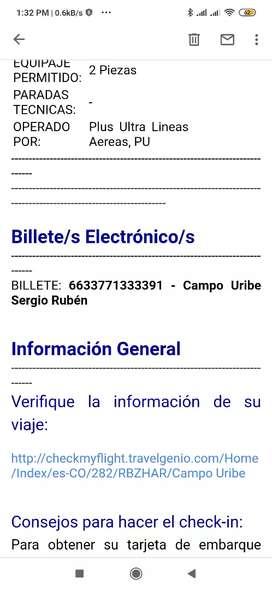 Vendo boletos España Cali Madrid