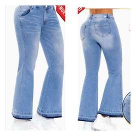 Jeans dama bota campana licrado
