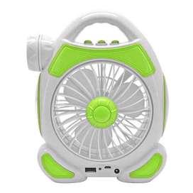 Ventilador Grande Multifunción (linterna/luz emerg/powerbank)