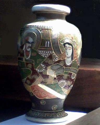 Jarrón de porcelana japonesa Satsuma