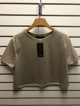 Polos crop top Mujer