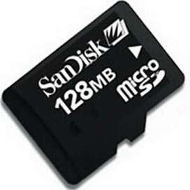 Tarjeta de Memoria MicroSD 128Mb SanDisk + Adaptador MicroSD Kingston