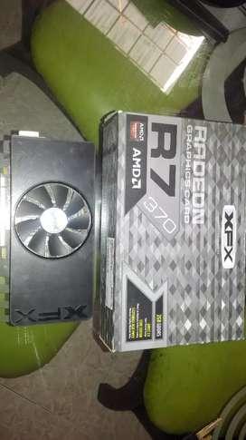 TARJETA GRAFICA AMD XFX R7 370 2GB DDR5  PARA GAMER O DISEÑO GRÁFICO