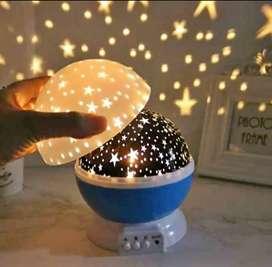 Lampara de lunas y estrellas proyector