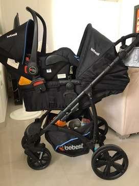 Oportunidad! Coche + silla porta bebe marca bebesit