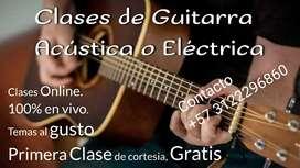 Clases de Guitarra Acústica o Eléctrica.