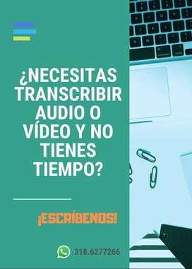 TRANSCRIPCIONES DE AUDIO O VÍDEO