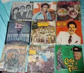 Discos de vinilos, long play de salsa