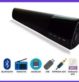 Barra de sonido parlante Bluetooth pantalla led 10 w