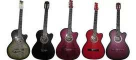 Guitarra acústica 100% cedro forro colgante púa