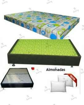 cama dividida en 2+ colchoneta + 2 almohadas envío gratis Bogotà o soacha