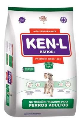 Ken-l adulto light x15 kgrs $3300